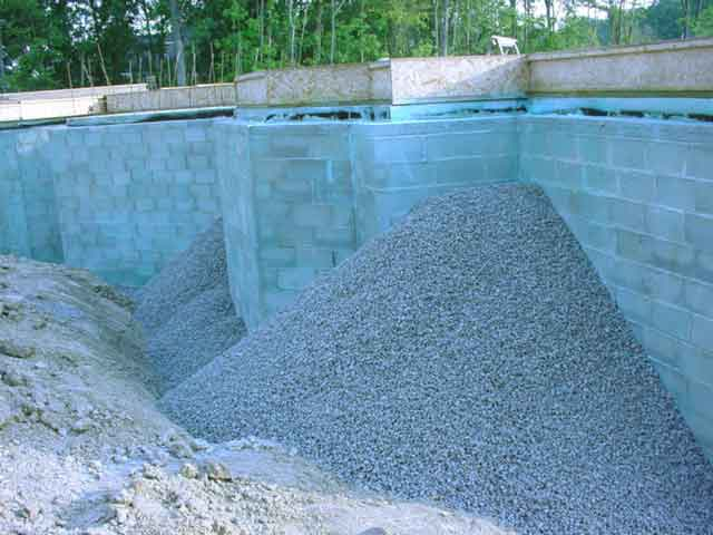 Aboite cliffs polar seal foundation sealant for Best backfill material for foundation